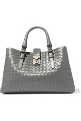 Bottega Veneta Roma Small Intrecciato Leather Tote Anthracite