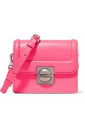 Marc By Marc Jacobs Jax Neon Textured Leather Shoulder Bag Pink