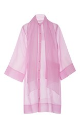 Rodebjer Adela Long Silk Coat Pink