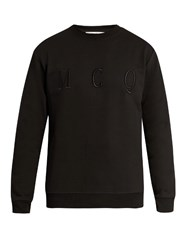Mcq By Alexander Mcqueen Logo Embroidered Cotton Sweatshirt Black
