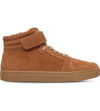 Kg By Kurt Geiger Anderson Suede High Top Trainers Tan