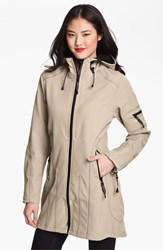 Women's Ilse Jacobsen Hornbaek 'Rain 7' Hooded Water Resisant Coat Sesame