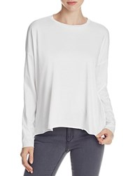 Eileen Fisher Organic Cotton Drop Shoulder Tee White
