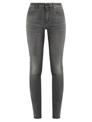 Saint Laurent Mid Rise Skinny Jeans Grey