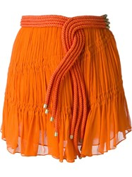 Jay Ahr Rope Detail Mini Skirt Yellow And Orange