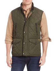Polo Ralph Lauren Quilted Sleeveless Vest Corduroy Green