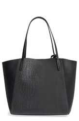 Bp. Embossed Faux Leather Tote Black
