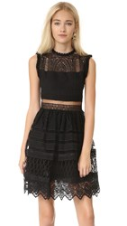 Alexis Sage Embroidered Dress Black