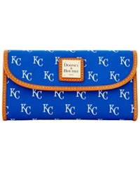 Dooney And Bourke Kansas City Royals Mlb Large Continental Clutch Blue