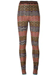 Missoni Chevron Pattern Leggings Multicolour