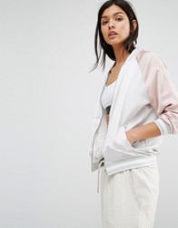 New Look Reversible Mesh Satin Bomber Nude Pink