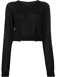 Haider Ackermann Fold Detail Cropped Jumper Black