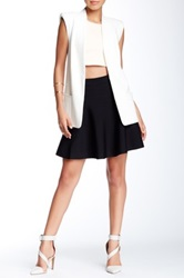 Romeo And Juliet Couture Ponte Skater Skirt Black