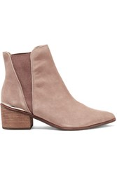 Schutz Porsha Suede Ankle Boots Taupe