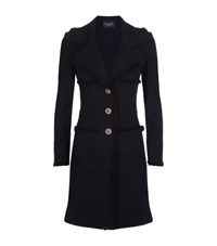 St. John Pique Fringed Multi Pocket Coat Female Black