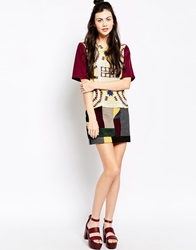 Emma Cook Patchwork Skirt Black