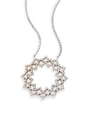 Kc Designs Diamond And 14K White Gold Flower Pendant Necklace