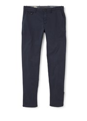 Mango Slim Fit Cotton Chinos Navy