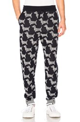 Thom Browne Hector Browne Jacquard Sweatpants In Blue Abstract