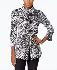 Jm Collection Petite Printed Jacket Only At Macy's White Combo