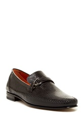Mezlan Genuine Lizard Loafer Black