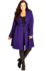 City Chic 'So Chic' Colored Trench Coat Plus Size Petunia