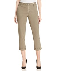 Nydj Riley Relaxed Fit Cropped Pants Sargeant Olive