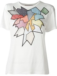 Christopher Kane Geometric Macrame T Shirt White