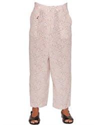Incotex Ines Floral Printed Silk Twill Pants