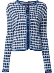 Moncler Gamme Rouge Jacquard Button Down Cardigan White
