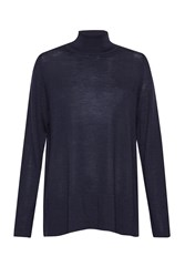 Great Plains Amelia Merino Polo Neck Sweater Blue