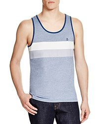 Penguin Color Block Stripe Tank Dark Denim