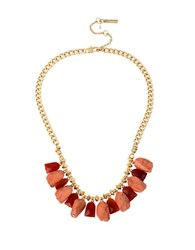 Kenneth Cole Shaky Coral Frontal Necklace Red