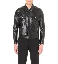Tom Ford High Shine Cotton And Linen Blend Biker Jacket Black