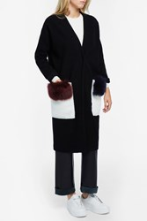 Anne Vest Cardigan With Shealing Pockets Black