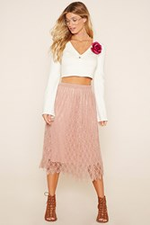 Forever 21 Contemporary Lace Midi Skirt