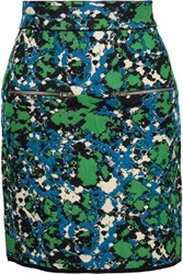 M Missoni Stretch Jacquard Knit Mini Skirt Multi