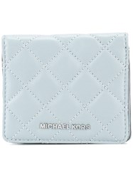 Michael Michael Kors 'Jet Set Travel' Quilted Wallet Blue