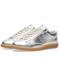 Maison Martin Margiela 22 Ace Low Laminated Sneaker Silver