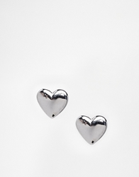 Ted Baker Harly Tiny Heart Stud Earrings Silver