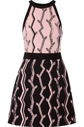 3.1 Phillip Lim Jacquard And Embroidered Woven Mini Dress Black