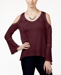 American Rag Cold Shoulder Peasant Top Only At Macy's Zinfandel