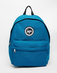 Hype Backpack In Blue Cotton Canvas Bl1blue1