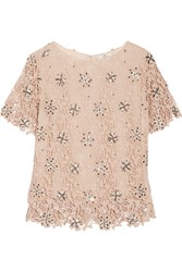 Day Birger Et Mikkelsen Organi Embellished Crocheted Cotton Top Nude