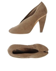 Vic Matie Vic Matie' Pumps With Open Toe Khaki