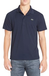 Lacoste Men's 'Sport' Raglan Ultra Dry Performance Polo Navy Blue