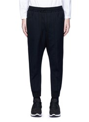 Song For The Mute Rib Cuff Wool Gabardine Track Pants Black