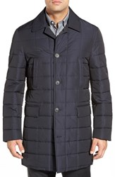 Men's Big And Tall Corneliani Quilted Overcoat Navy Solid