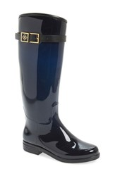 Women's D V 'Bristol' Weatherproof Knee High Rain Boot Navy Black