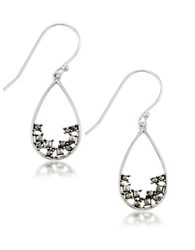 Lord And Taylor Marcasite Sterling Silver Teardrop Earrings